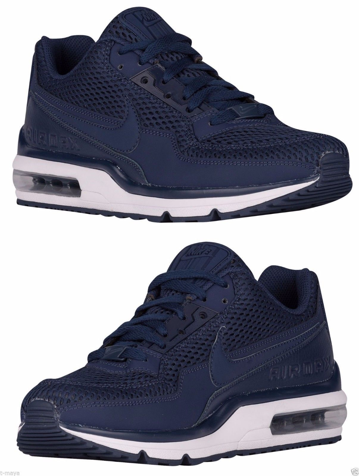 17e079404c54 NIKE AIR MAX LTD 3 MEN s MESH M RUNNING MIDNIGHT NAVY - WHITE AUTHENTIC NEW  SIZE