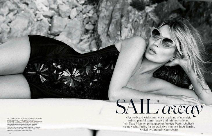 Sail Away x Kate MossbyPatrick Demarchelier@Vogue UK i