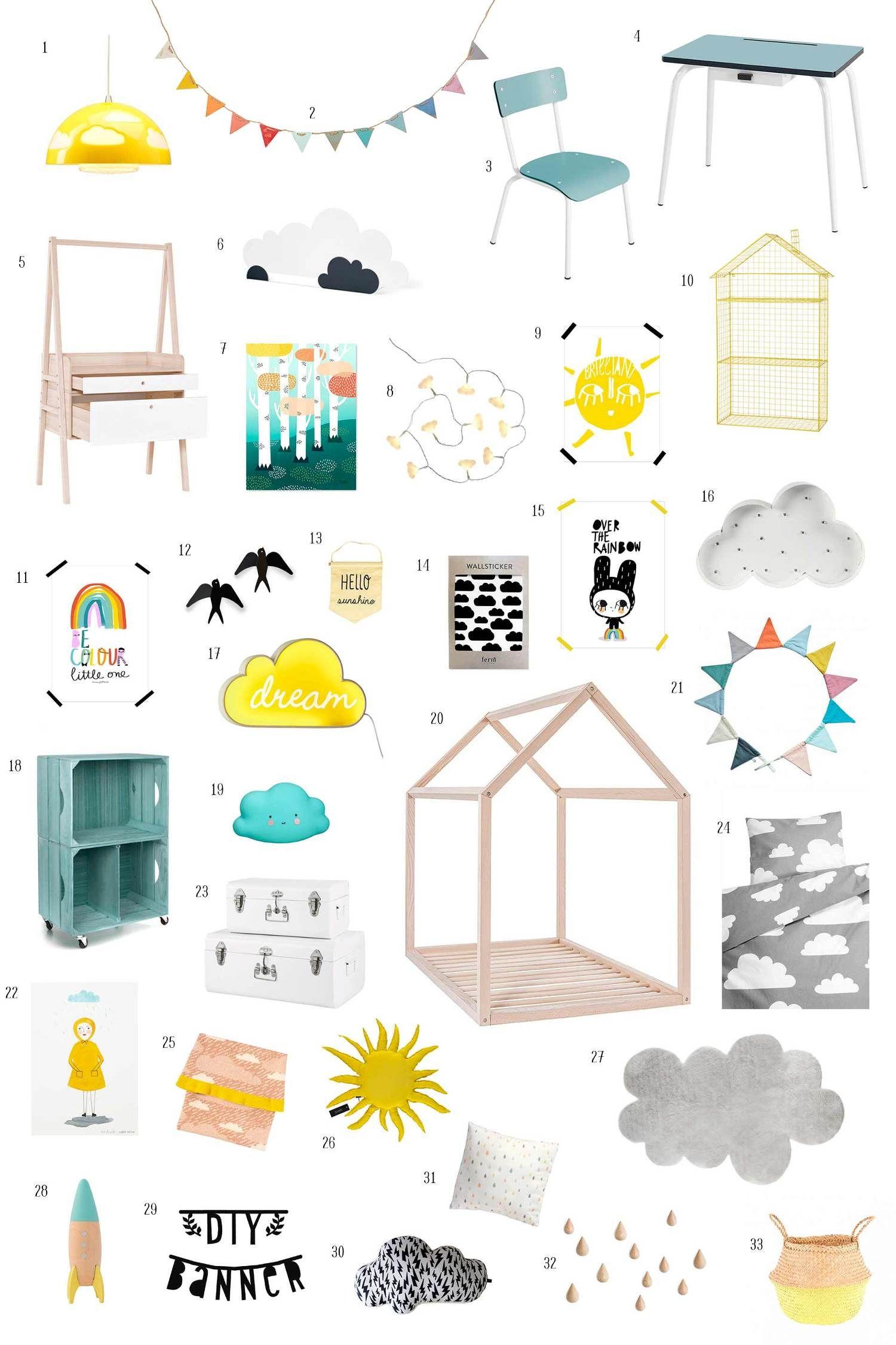 habitacion-infantil-tematica-nubes-cielo-luna-estrellas   My decor ...