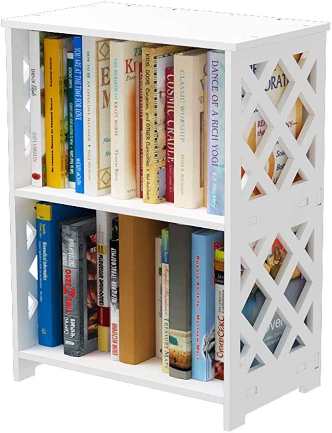 Amazon Com Rerii Small Bookcase 2 Tier Bookcase For Small Spaces 2 Shelf Bookshelf Kids Boo Bookshelves For Small Spaces Small Bookshelf Shelves In Bedroom