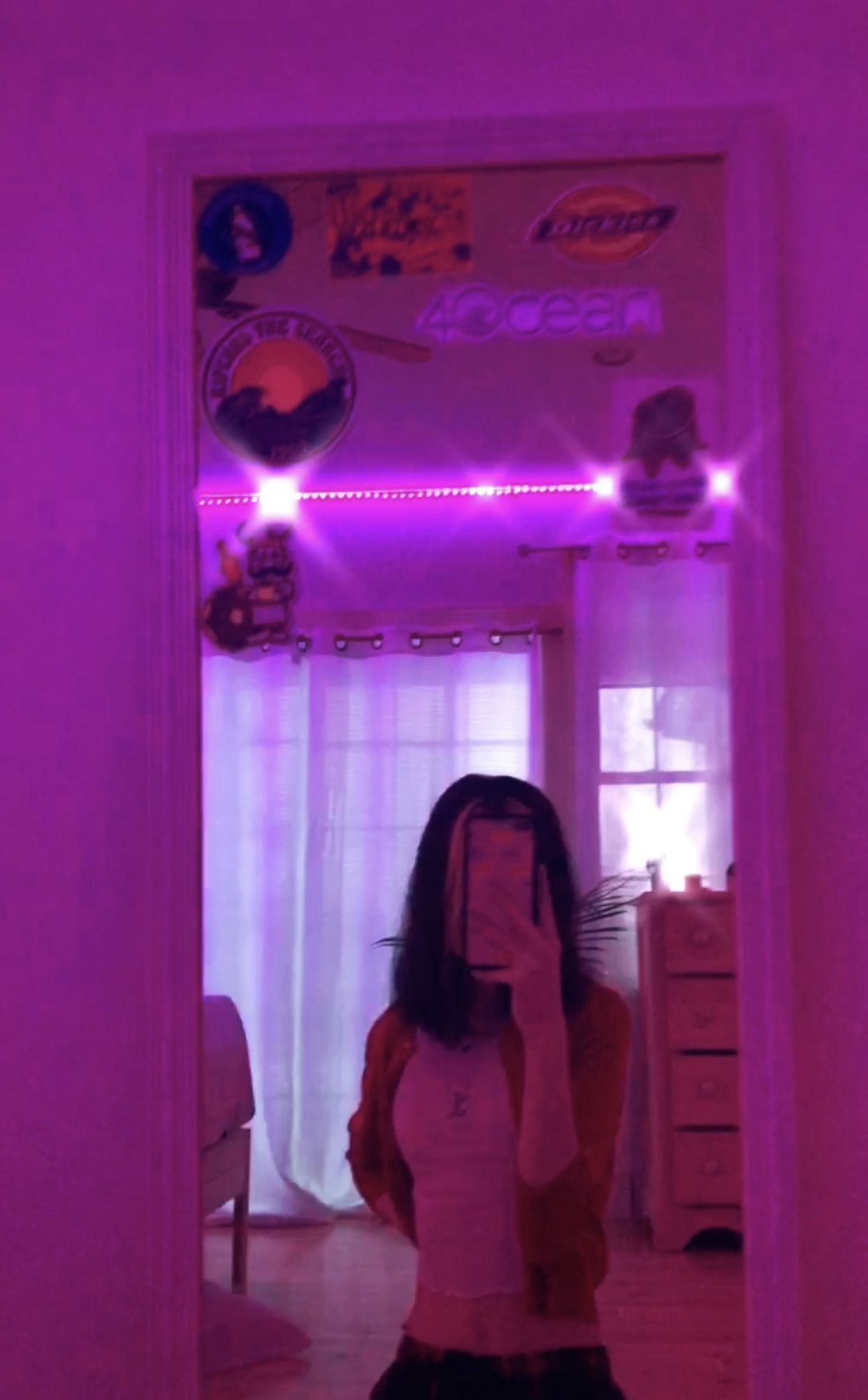 Led Lights Aesthetic Girl