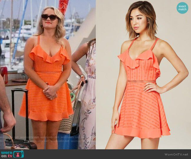 6af561c2b1ee Gabi s orange sundress on Young and Hungry in 2019