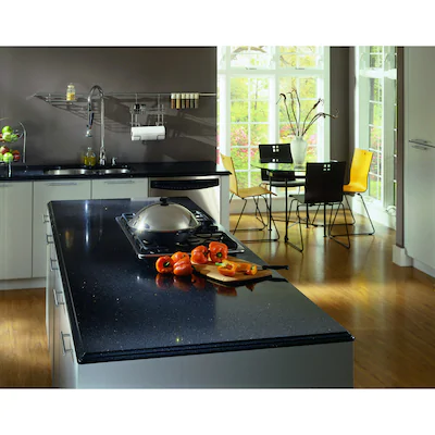 Silestone Stellar Night Quartz Kitchen Countertop Sample