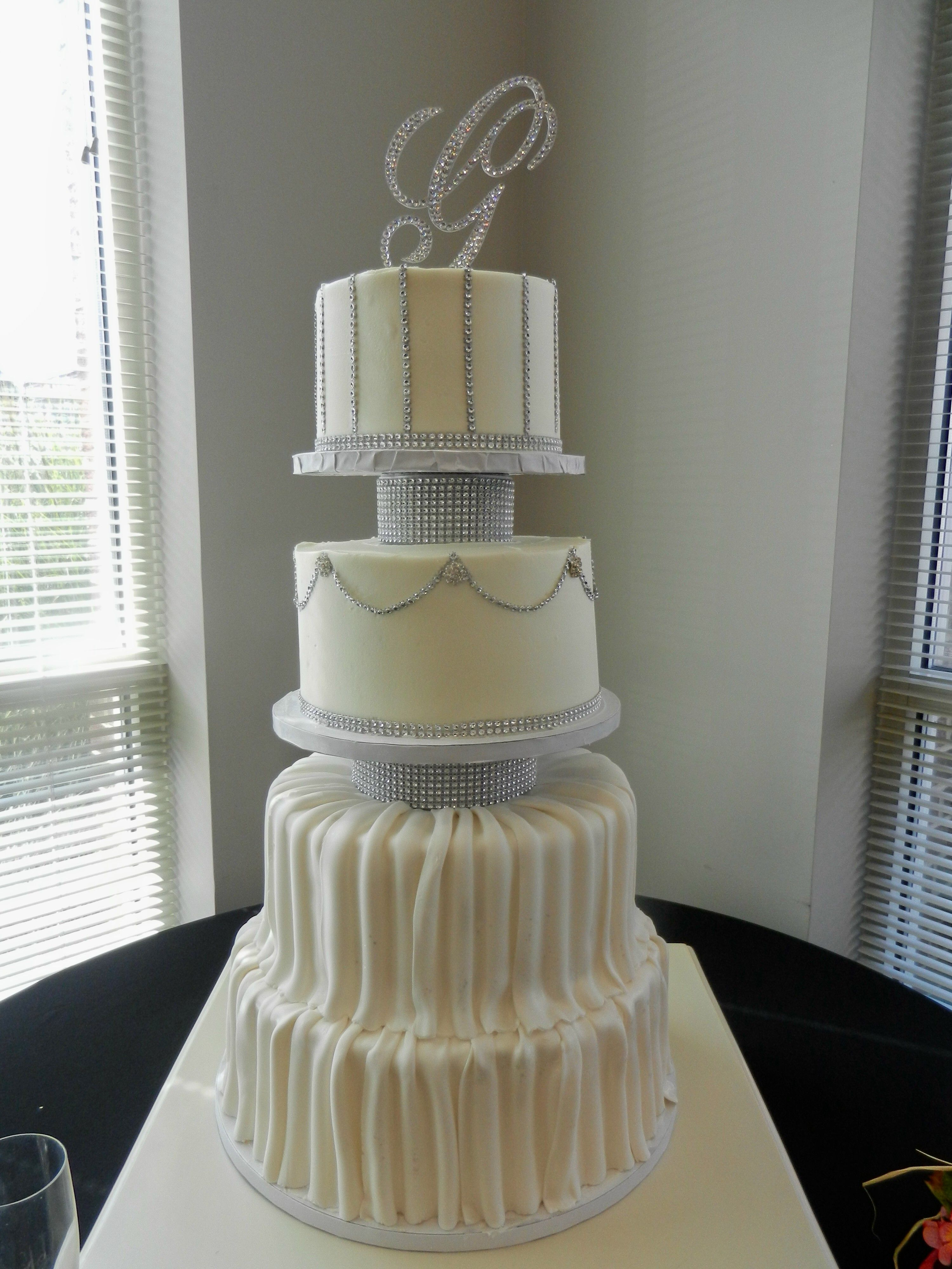 Exceptional Bling Wedding Cake Www.cheesecakeetc.biz Wedding Cakes Charlotte NC