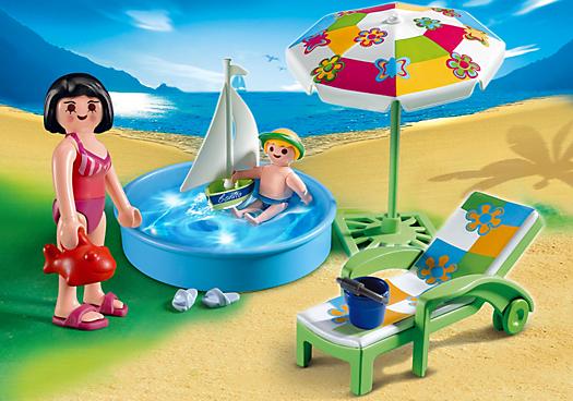 Piscina para crian as dollhouse playmobil kids toys summer fun for kids - Piscina toys r us ...