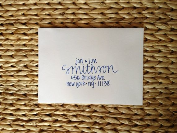 Wedding Invitation Addressing - Handwritten Envelopes - Smithson ...