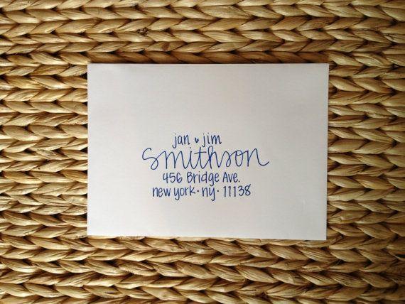 Wedding Invitation Addressing   Handwritten Envelopes   Smithson