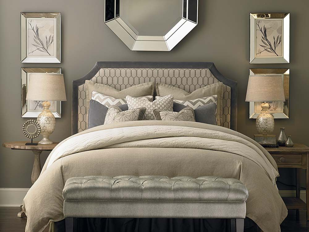 Custom Uph Beds Florence Clipped Corner Headboard Guest