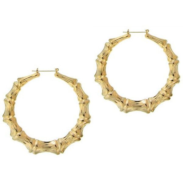 15 Liked On Polyvore Featuring Jewelry Earrings Gold Bamboo Earring Star And Filled