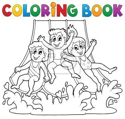 Dibujo Para Colorear De Juegos Acuaticos