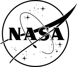 photograph regarding Printable Nasa Logo named NASA with superstars I can create that! Black, white stickers