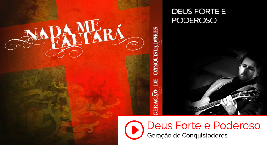 "Ouça a música ""Deus Forte e Poderoso"" do CD Nada Me Faltará do Ministério Geração de Conquistadores - Roberto Costa: https://www.youtube.com/watch?v=KCECQlCqbz4&feature=youtu.be&utm_campaign=videos-geracao-de-conquistadores&utm_medium=post-29abr&utm_source=pinterest&utm_content=deus-forte-e-poderoso-youtube"