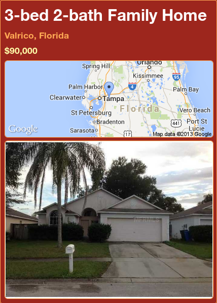 3-bed 2-bath Family Home in Valrico, Florida ►$90,000 #PropertyForSale #RealEstate #Florida http://florida-magic.com/properties/78990-family-home-for-sale-in-valrico-florida-with-3-bedroom-2-bathroom