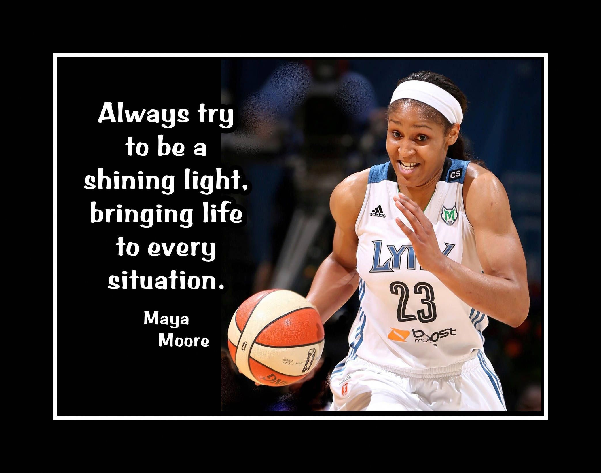 Maya Moore, Basketball Motivation Poster, Inspirational