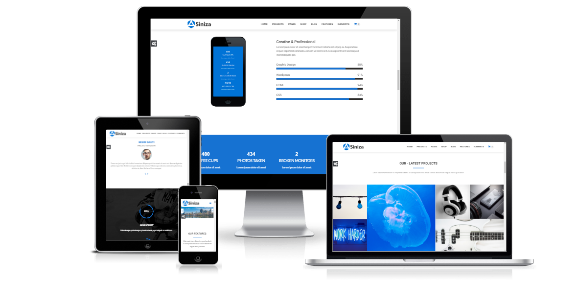 Siniza Multipurpose Html5 Template By Spacema Html