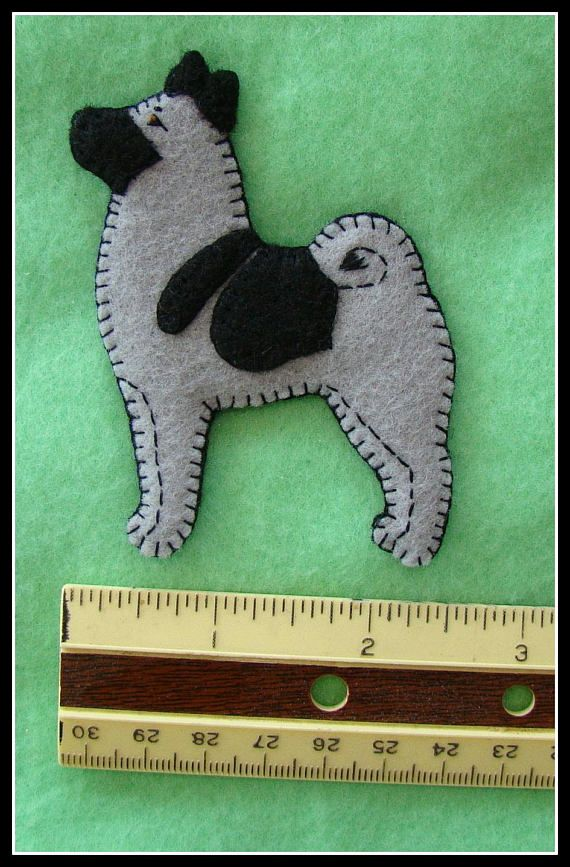 Reserved Listing For Chemczarina 3 Norwegian Elkhound Ornaments