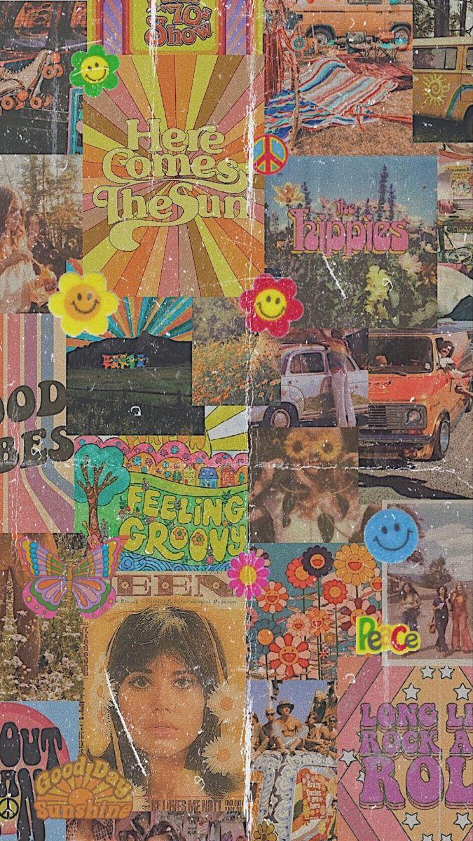 Hippy 70s aesthetic wallpaper