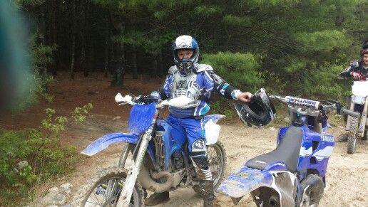 My dad on a Yamaha yz 250