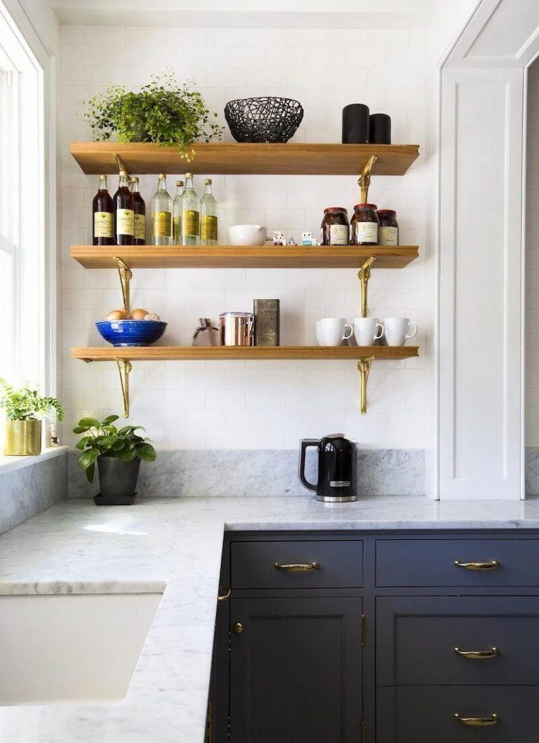Maybe Open Wood Shelves Where We Aren T Getting Cabinets In The