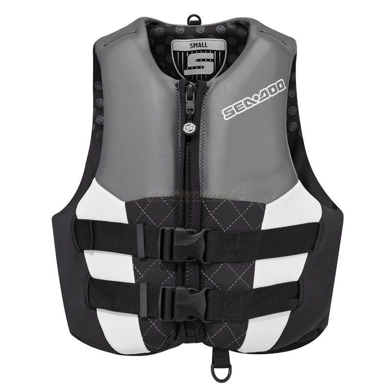 Sea Doo Ladies Neoprene Airflow Pfd Life Jacket Vest Black Ski Doo Outlet Life Jacket Vest Jacket Jackets