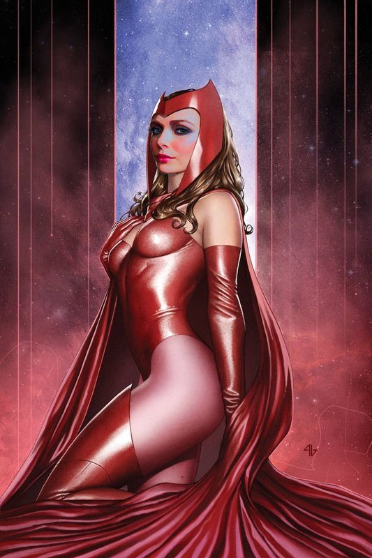 Elizabeth Olsen In The Classic Version Of The Scarlet Witch Costume Superheroe Femenina Magnificos Chicas De Comics