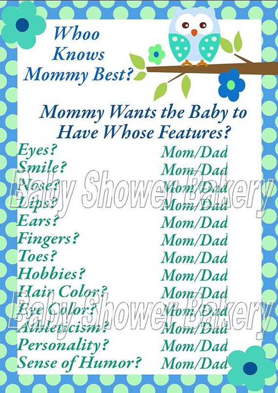 Cute Baby Shower Game Owl Baby Shower Cute Baby Shower Games