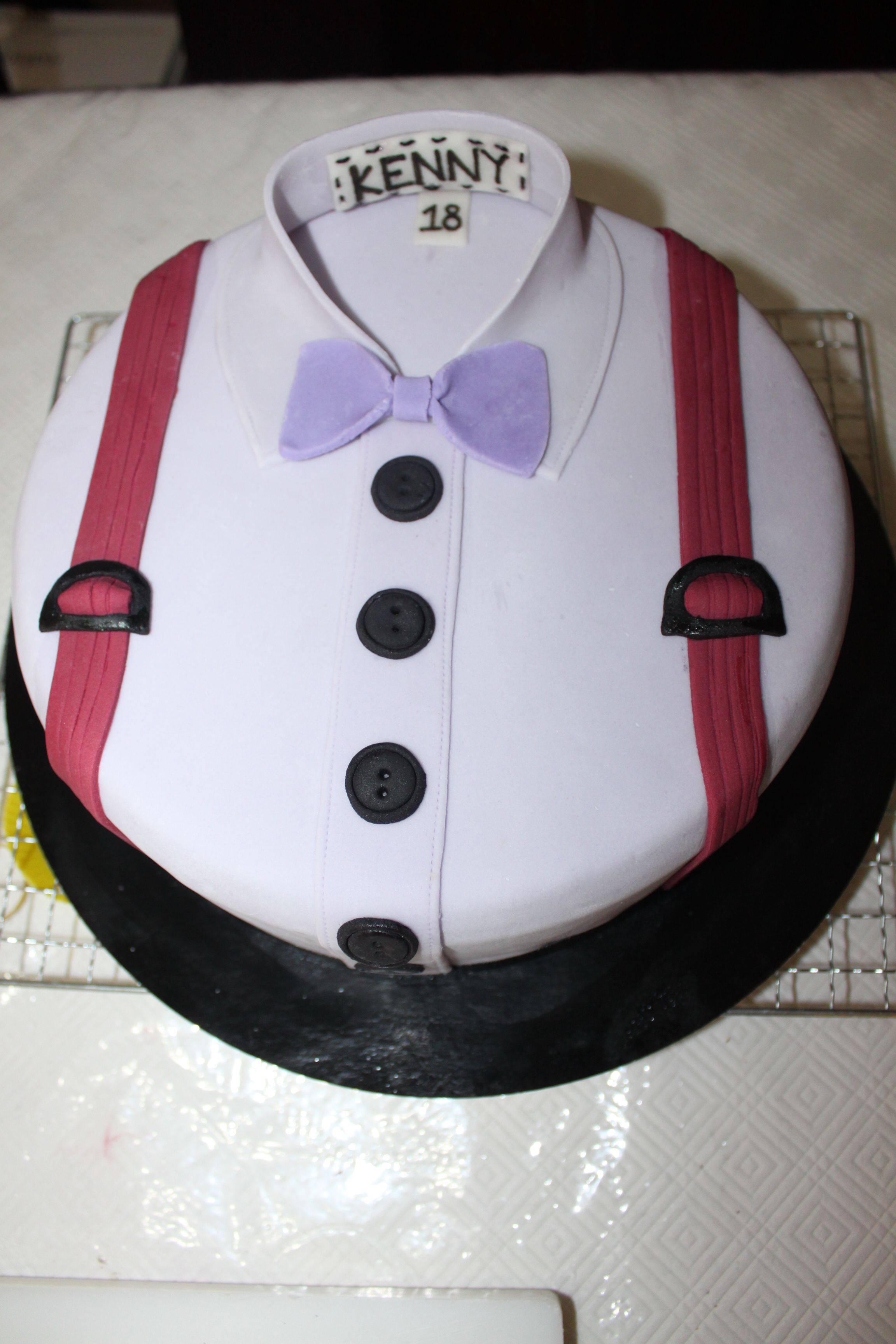 Shirt With Bow Tie Cake By Kendra Ly My Creations Cake