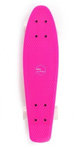 Miller · Plastic Skate. Fluor pink/white  Baby Miller. Authentic 70's - 80's style. Baby Miller 60 mm y 80a, ABEC 7 carbon steel bearings, extra strong polipropylene material, ultra light skate. Ramps, carving, cruising, slalom.