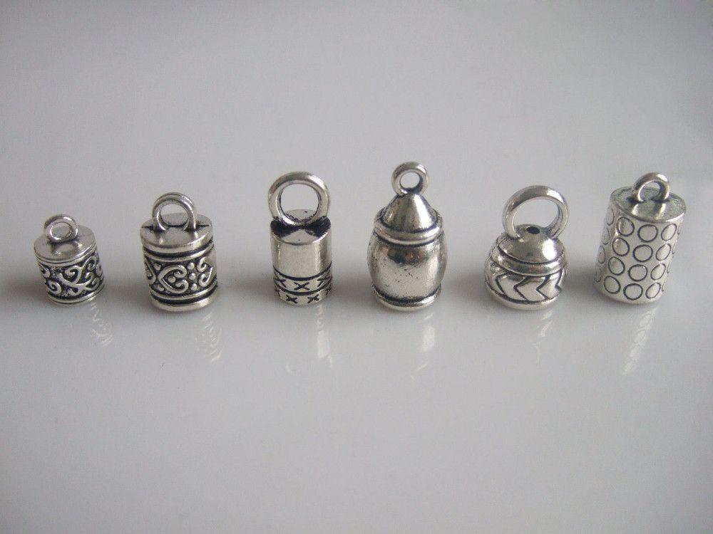 cedecf46b 20 unids starý stříbrný barel konektor End Caps Kumihimo náramky a  náhrdelník výsledky šperkařství šperky a klenoty součásti a příslušenství  pro ...