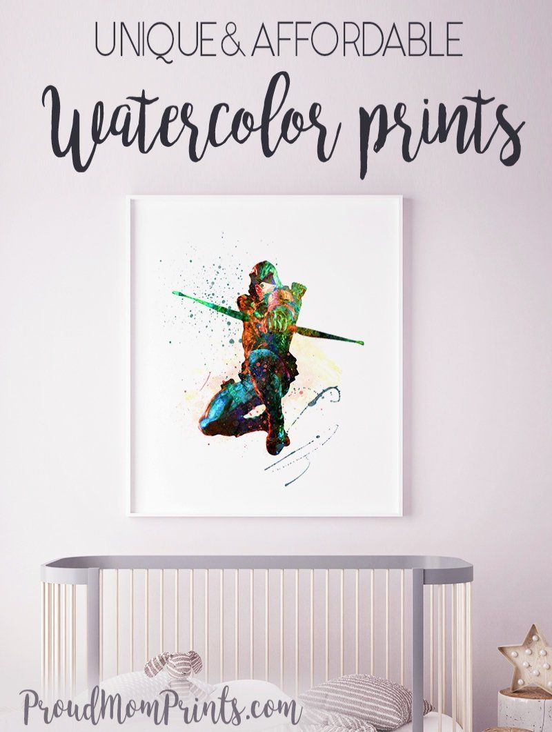 Dc Comics Green Arrow Art Print Poster Wall