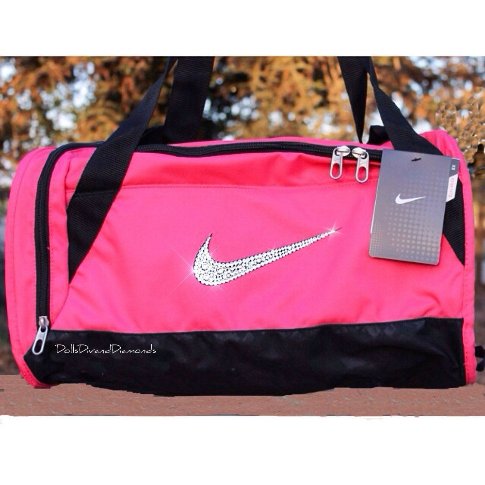 Nike Xs Duffel Bag W Swarovski Rhinestones Pink