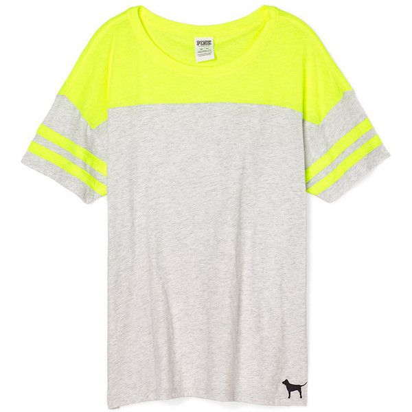 Victoria's Secret PINK Athletic Tee ($25) ❤ liked on Polyvore ...