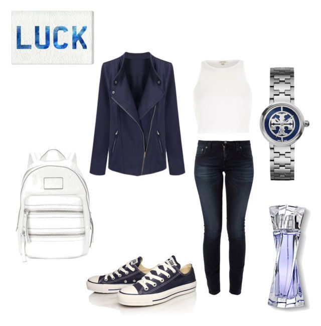"""""""Untitled #170"""" by nicola-waterman-clapman on Polyvore featuring Nudie Jeans Co., River Island, Converse, Marc by Marc Jacobs, Tory Burch, Lancôme and Oliver Gal Artist Co."""