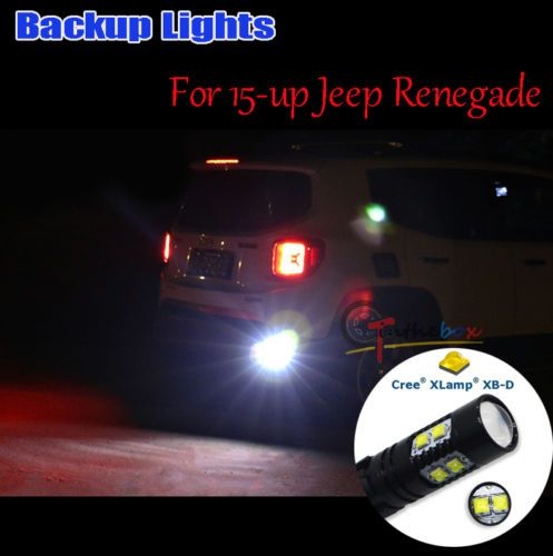 2 High Power 50w Cr Ee Led Backup Reverse Light Bulbs For 15 Up Jeep Renegade Jeep Renegade Cree Led Car Lights