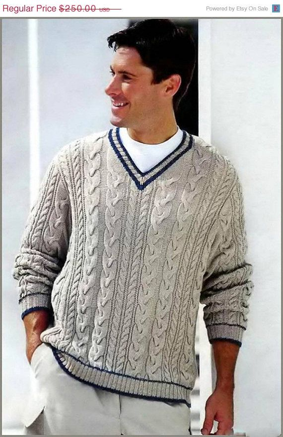 10 OFF SALE MADE To Order men\'s sweater hand by LuxuryKNITTING2013 ...