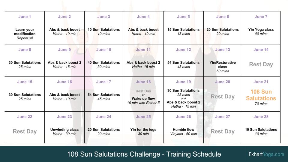 The 108 Sun Salutations Training Plan 108 Sun Salutations Sun Salutation Training Plan