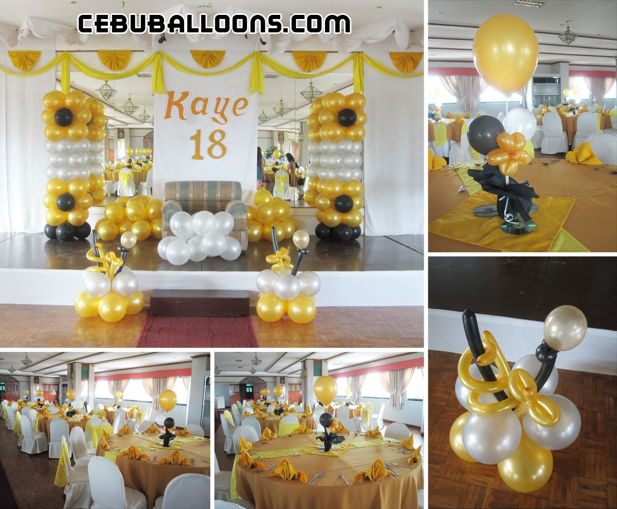 Gold Birthday Decorations Pin By Katherine Joy On Black Gold And White Party Theme Pinterest