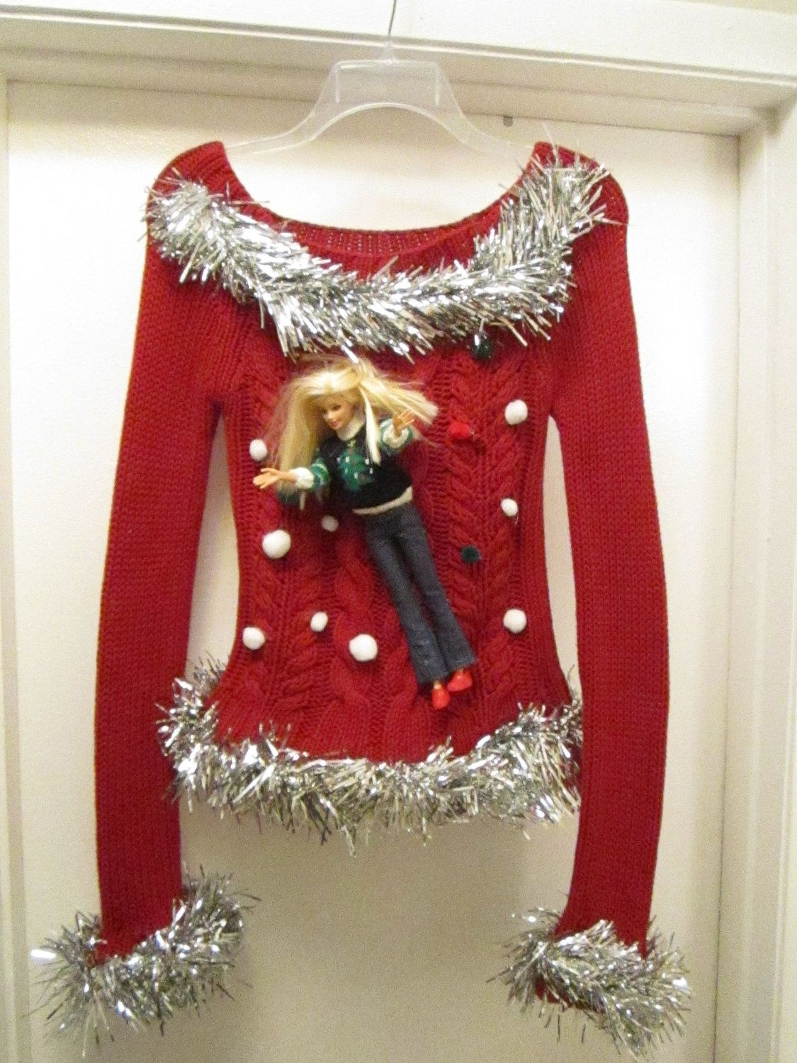Diy Ugly Christmas Sweater Party Ideas Part - 21: Barbie Ugly Christmas Sweater Size Xsmall Ho Ho By MotherFrakers- I Think I  Can DIY