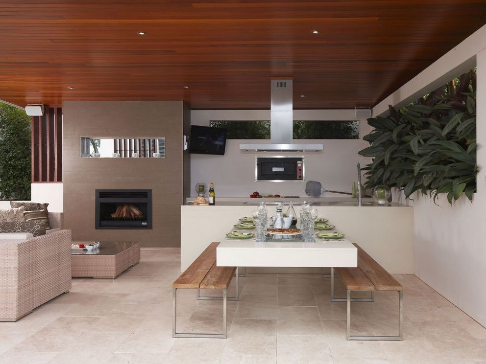 Now This Is A Patio For Entertaining Http Www Houzz Com Photos 6382311 Stone Transitional Patio Oth Diy Outdoor Kitchen Outdoor Kitchen Design Outdoor Rooms