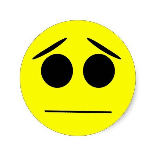 Anxious Smiley Face Sticker