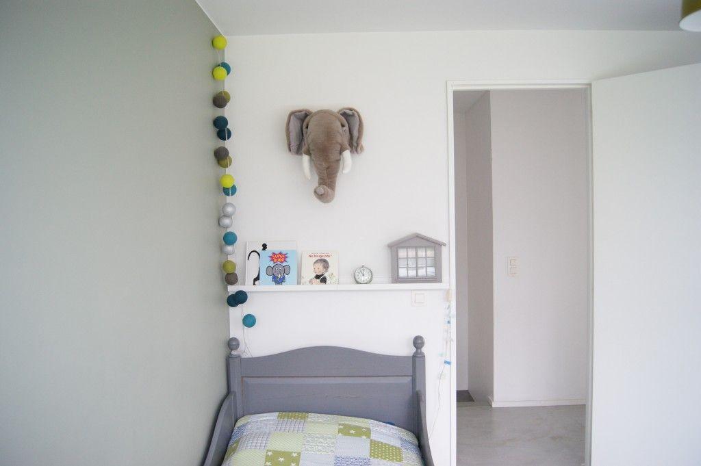 Inspiration pour chambre de garçon Trophée en tête du0027éléphant en - guirlande lumineuse pour chambre bebe