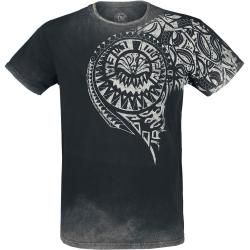 Photo of Outer Vision Burned Tattoo Herren-T-Shirt – grau