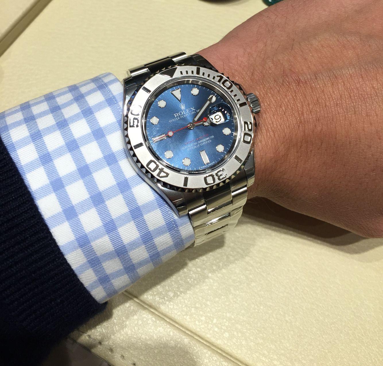 Rolex Yachtmaster (116622) blue dial, 40mm, platinum bezel