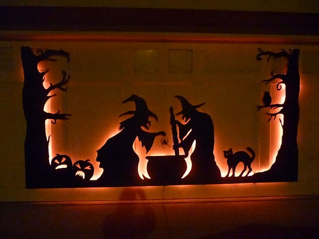 Halloween Garage Door Silhouette Pinterest Halloween garage door - Halloween Garage Door Decorations