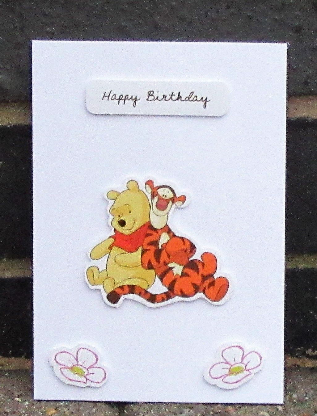 Winnie The Pooh And Tigger Card Don T They Look So Happy Together Like This Have A Look At My Pictures At Https Www Disney Cards Paper Art Scrapbook Cards
