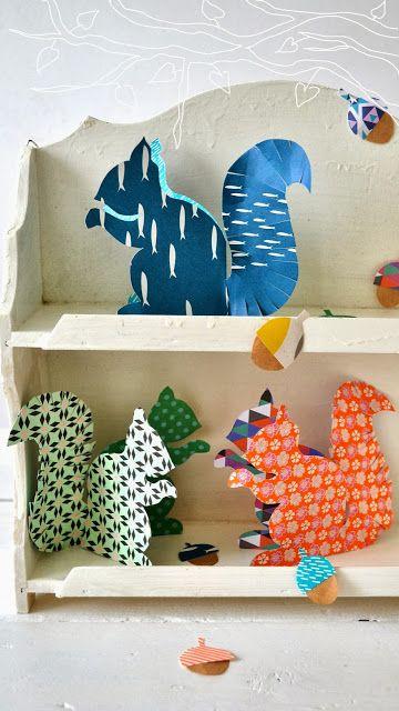 ingthings paper squirrel diy chambre t o pinterest cureuil activit p riscolaire et. Black Bedroom Furniture Sets. Home Design Ideas