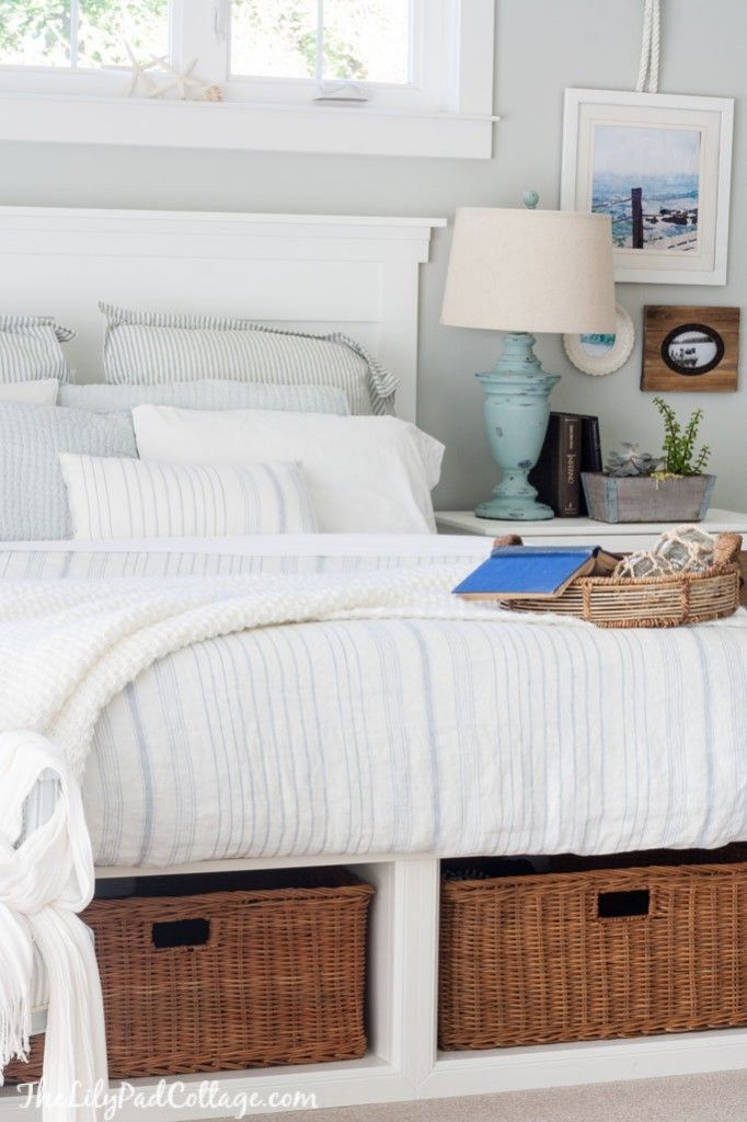 Coastal Cottage Style Master Bedroom Ideas | The Lilypad Cottage