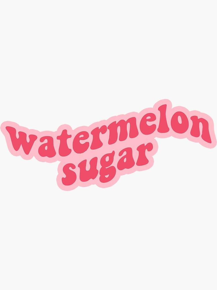 Watermelon Sugar Harry Styles Sticker Sticker In 2020 Aesthetic Stickers Harry Styles Wallpaper Style Lyrics