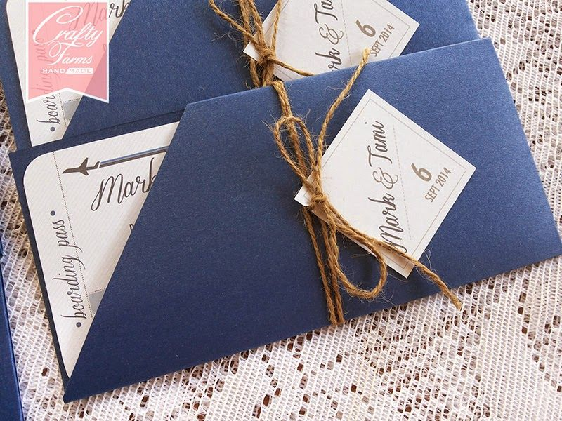Wedding Card Malaysia | Crafty Farms Handmade : Gradient Blue ...