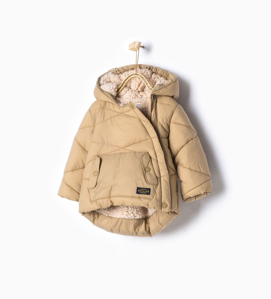 Padded coat with side zip - Coats - Baby boy (6 months - 6 years